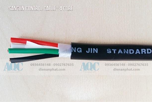 Cáp điều khiển Sang Jin 4 x 0.75 mm2
